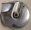 Harley-Davidson 1949-68 backing plate with conical scoop added