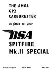Amal B.S.A. Spitfire Carburetor Tuning