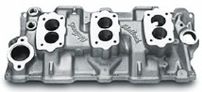 Edelbrock C-357-B Chevrolet small block V8 intake manifold