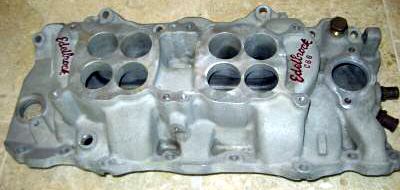 Edelbrock C-66-O Chevrolet big block V8 intake manifold