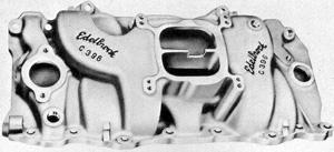 Edelbrock C396 Chevrolet big block V8 intake manifold