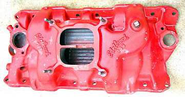Edelbrock C3B Chevrolet small block V8 intake manifold