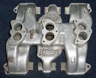 Obsolete Edelbrock Intake Manifold Table