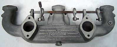 """Edelbrock 2 � 1 bbl. Chevrolet 235"""" 6 cylinder intake manifold"""