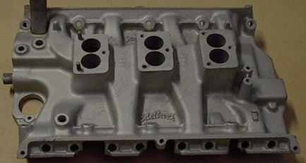 Edelbrock Ford FE tri-power V8 intake manifold