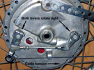 Suzuki GT750 cam levers in compression