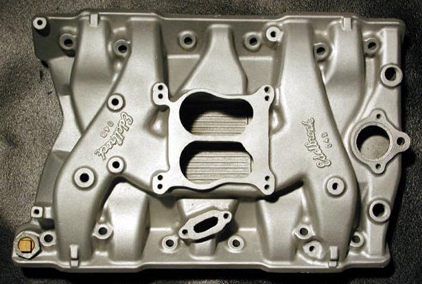 Edelbrock O4QJ late Olds V8 intake manifold