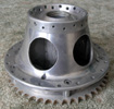 lightened conical rear hub