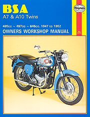 BSA A7 & A10 Twins 1947-1962 Repair Manual, by Haynes