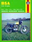BSA Unit Singles Owners Workshop Manual, by Marcus Daniels