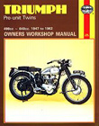 Triumph Pre-Unit Twins 1947-62 Repair Manual, by Haynes