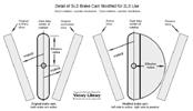 Harley-Davidson brake cam modified for 2LS
