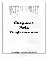 Chrysler Poly Performance